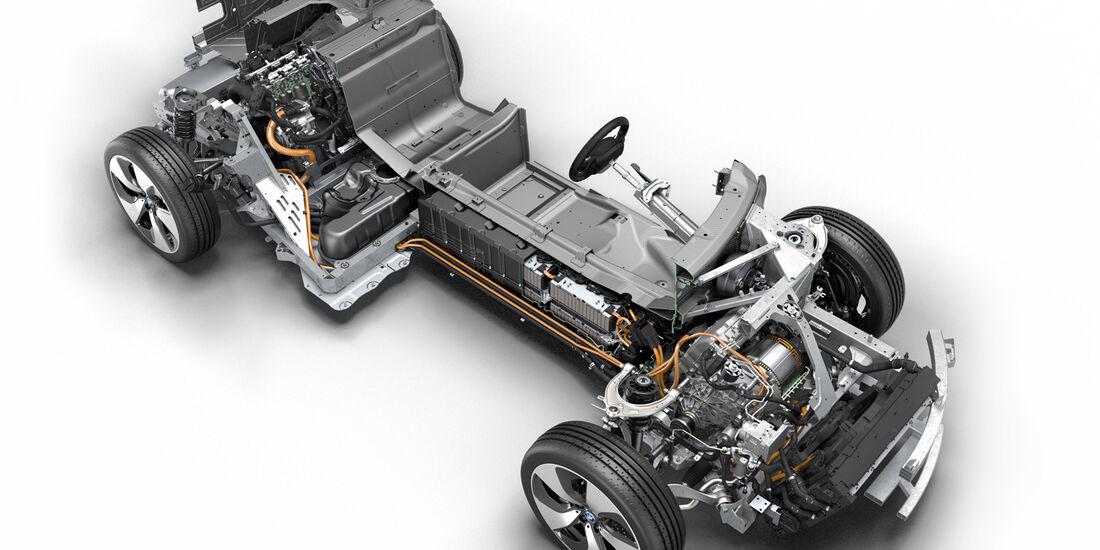 BMW i8, Fahrgestell, Grafik