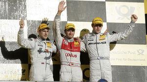 Timo Scheider, DTM, Audi, Hockenheim, Sieger, Podium