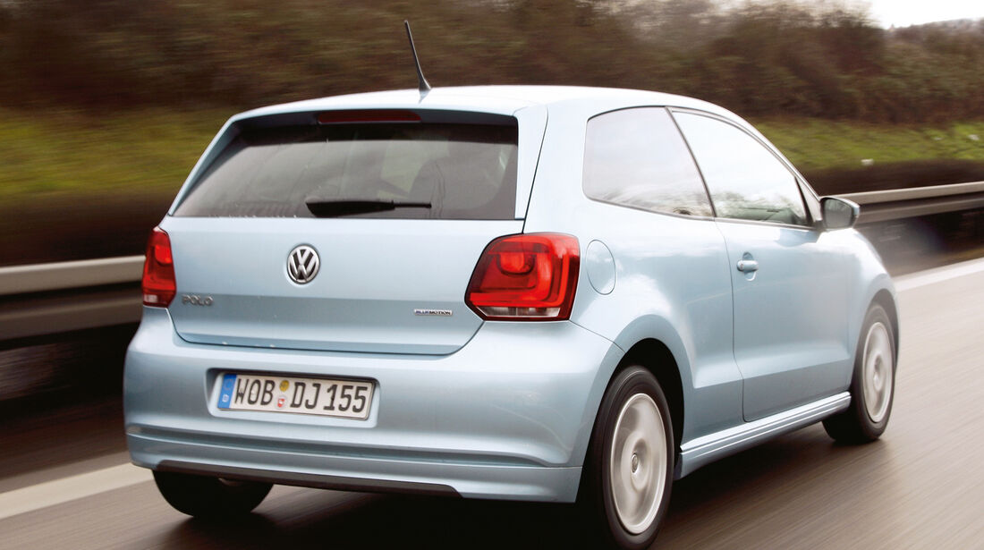 VW Polo Blue Motion, Heckansicht