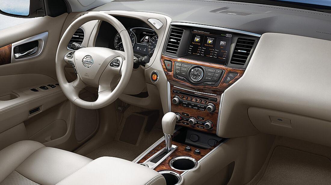 01/2012, Nissan Pathfinder Concept, Detroit, Innenraum