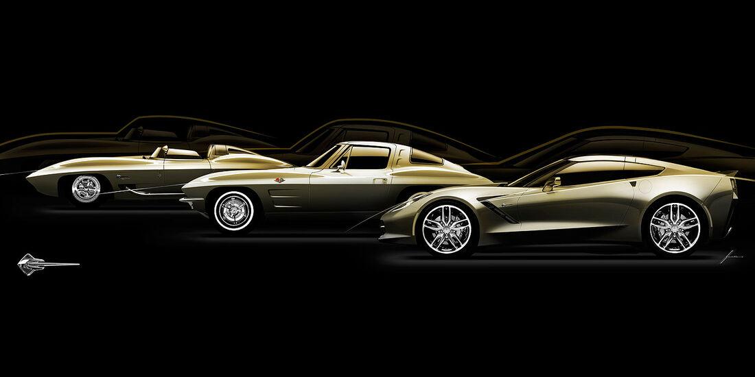 01/2013 Chevrolet Corvette, drei Generationen