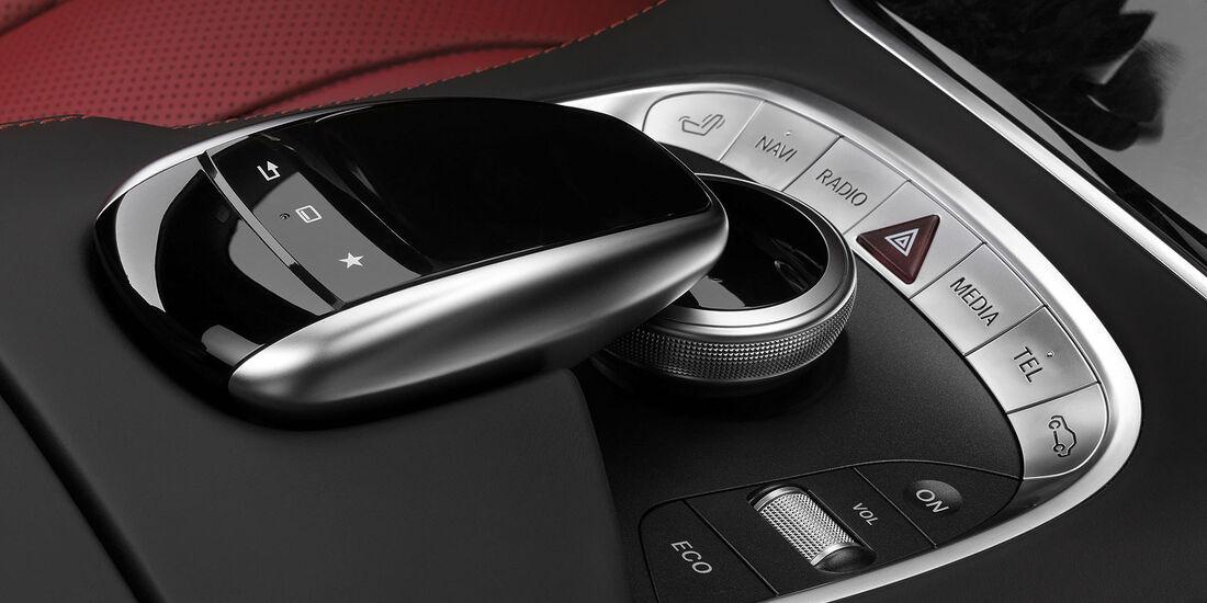 02/2014, Mercedes S-Klasse Coupé. Innenraum, Touchpad