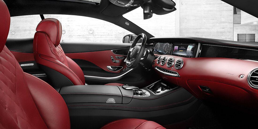 02/2014, Mercedes S-Klasse Coupé. Innenraum