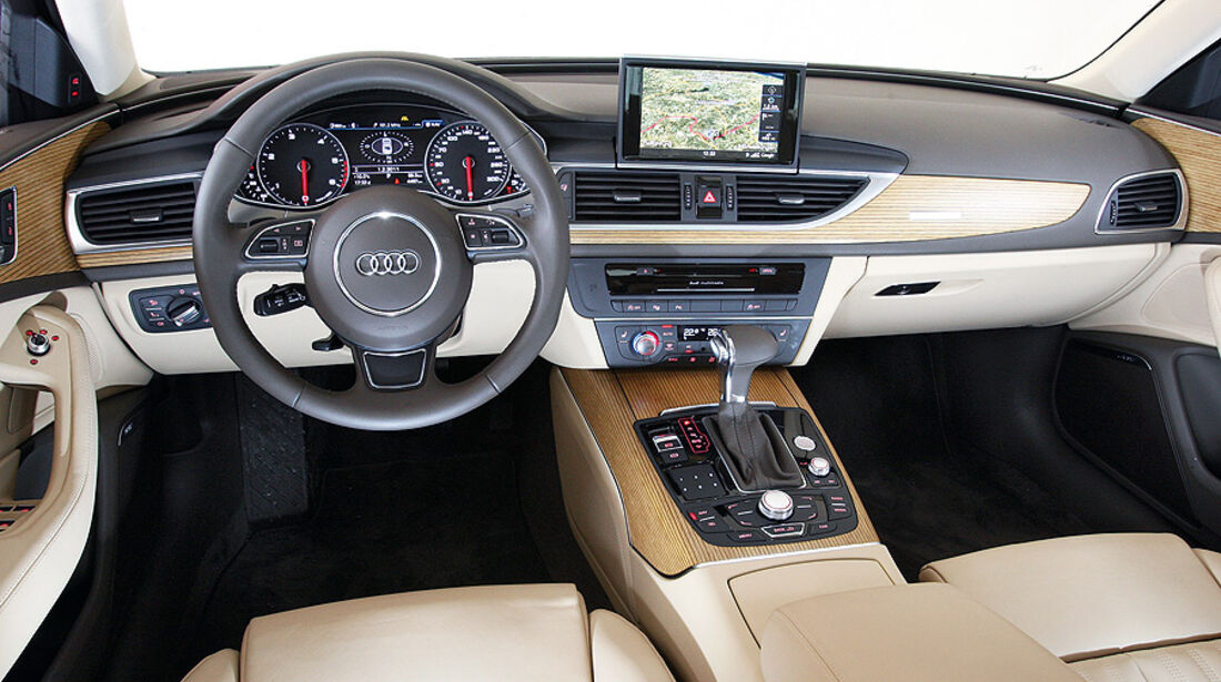 03/2011  Audi A6 3.0 TDI, aumospo 06/2011, Allrad, Innenraum