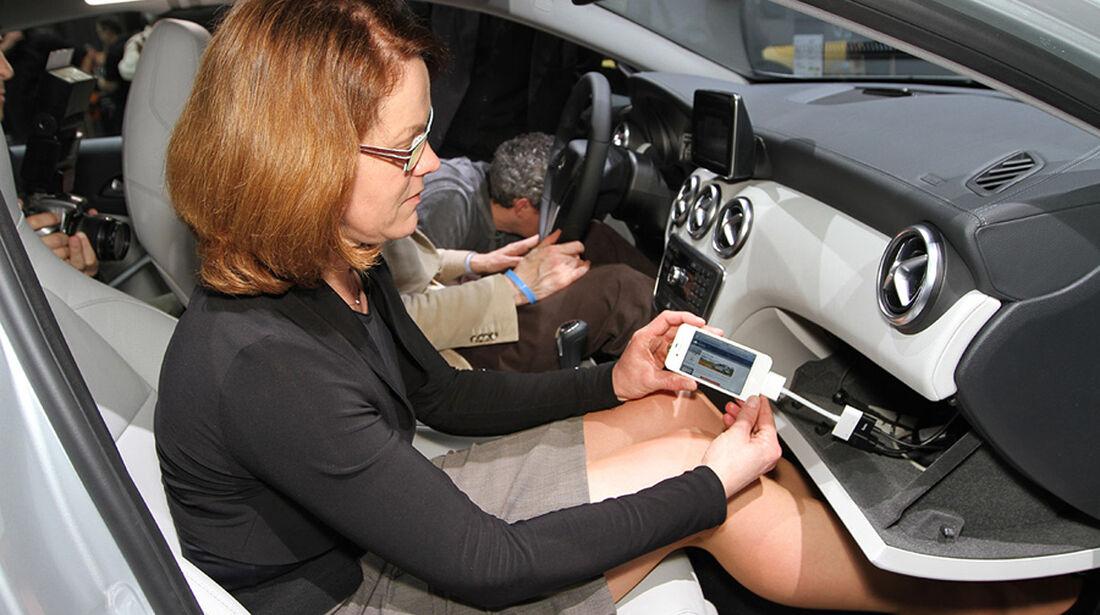 03/2012, Sitzprobe Mercedes A-Klasse, Genf