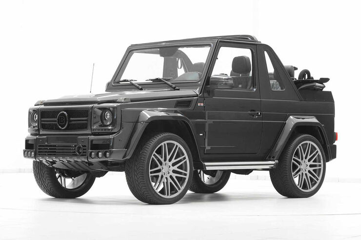 brabus mercedes g widebody dicke backen f r das cabrio. Black Bedroom Furniture Sets. Home Design Ideas