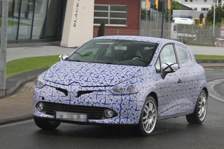 06/2012, 2012 Renault Clio RS und Clio Sport Erlkönig