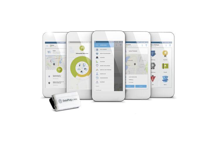 volkswagen connect data plug und app auto motor und sport. Black Bedroom Furniture Sets. Home Design Ideas