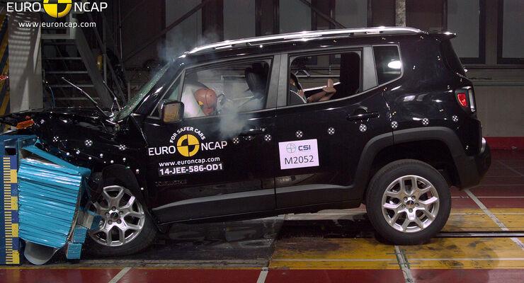 12/2014, EuroNCAPCrashtest Jeep Renegade