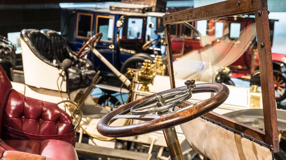 1905 Benz 18 PS Doppelphaeton - Mercedes-Museum - Lenkrad