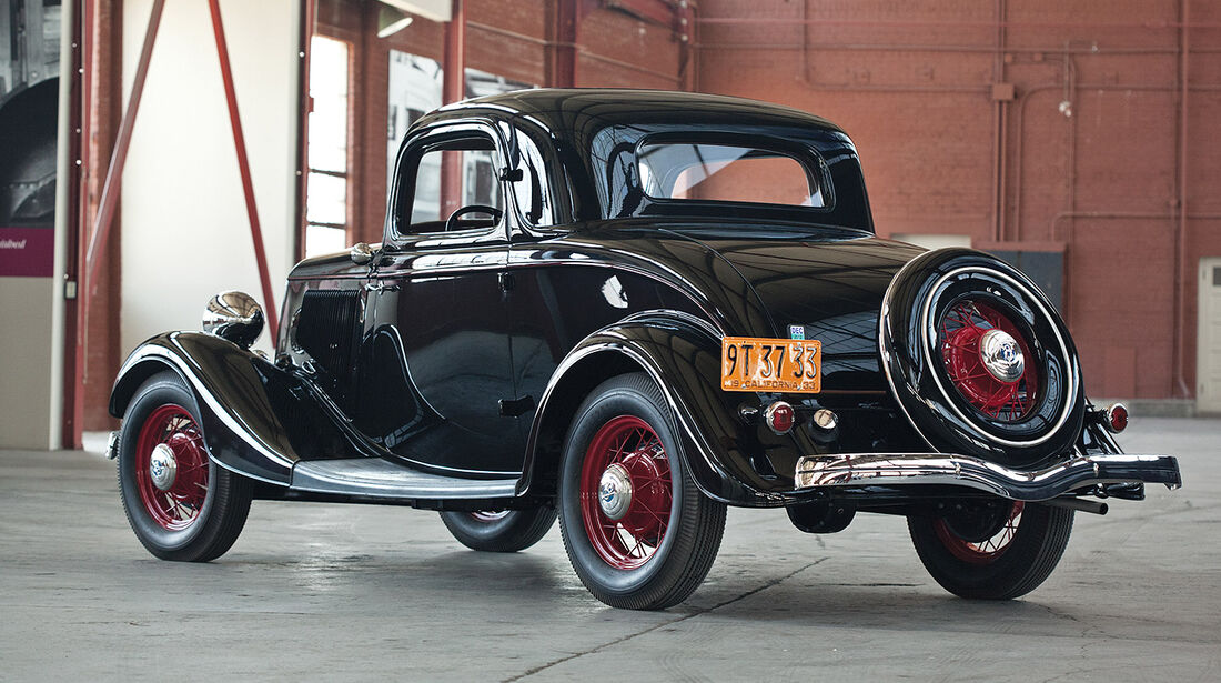 1933er Ford V-8 DeLuxe Three-Window Coupe