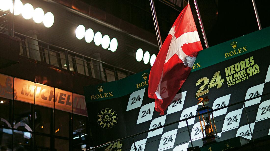 24h Le Mans, Dänemark, Flagge