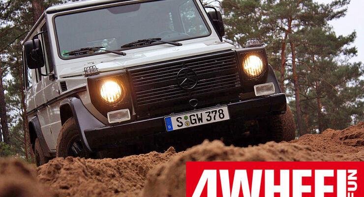 4wheelfun-Supertest-Teaser Mercedes G Edition Pur