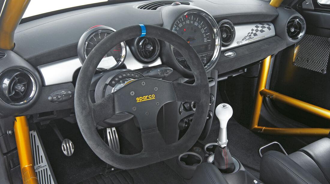 AC Schnitzer Raptor Mini JCW Coupé, Cockpit, Lenkrad