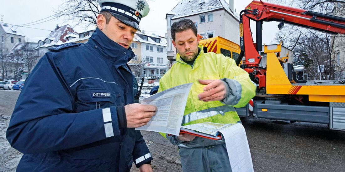 Abschleppwagen, Polizei