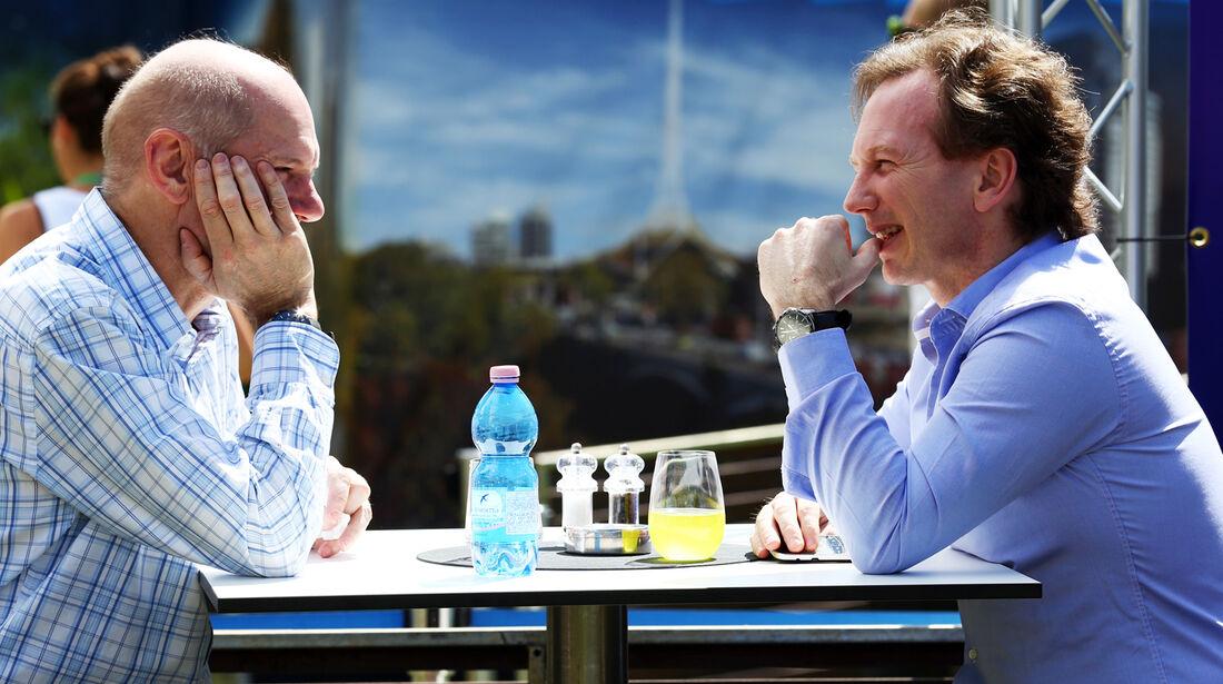 Adrian Newey & Christian Horner - Red Bull - Formel 1 - GP Australien - 14. März 2013