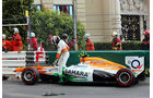 Adrian Sutil - Crash - Formel 1 - GP Monaco - 25. Mai 2013
