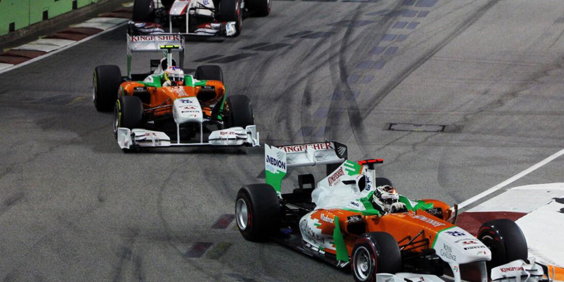 Adrian Sutil Force India GP Singapur 2011