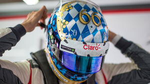 Adrian Sutil - Helm - Formel 1 - GP Deutschland 2014