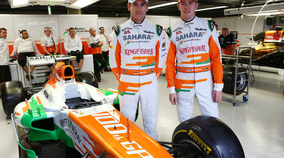 Adrian Sutil & Paul di Resta - Force India - Formel 1 - GP Kanada - 7. Juni 2013