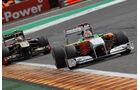 Adrian Sutil Rennen GP Belgien 2011