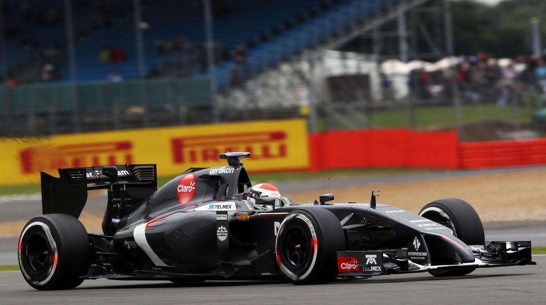 Adrian Sutil - Sauber - Formel 1 - GP England - Silverstone - 5. Juli 2014
