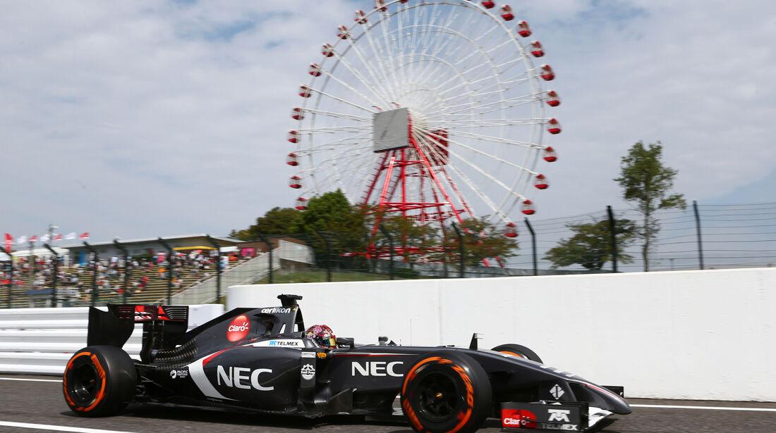 Adrian Sutil - Sauber - Formel 1 - GP Japan - 3. Oktober 2014
