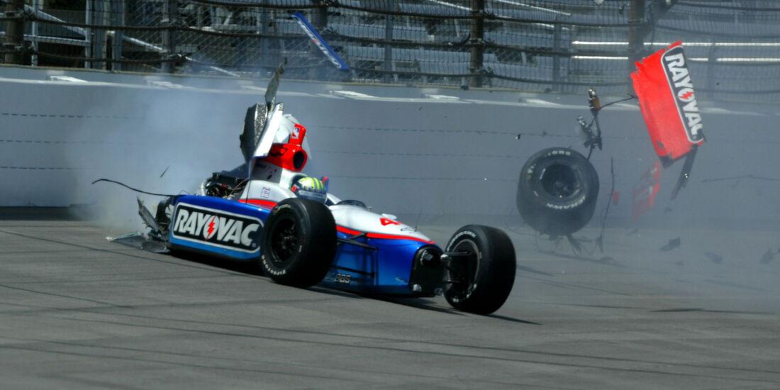Alex Barron - IndyCar-Crash