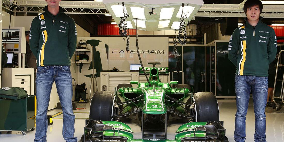 Alexander Rossi, Ma Qing Hua, Caterham, Formel 1-Test, Barcelona, 01. März 2013