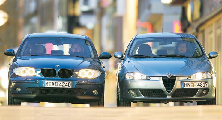 Alfa Romeo 147 1.6 T. Spark, BMW 116i