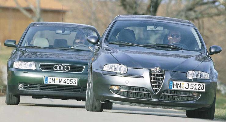 Alfa Romeo 147 1.6 TS Progression und Audi A3 1.6 Attraction