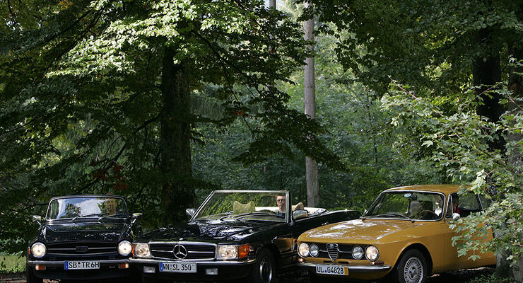 Alfa Romeo 1750 GTV, Mercedes-Benz 350 SL, Triumph TR 6