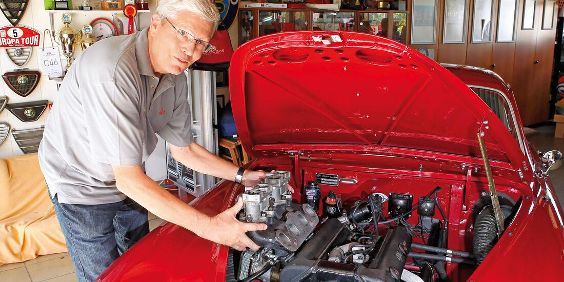 Alfa Romeo 1900 Sprint Coupé Pinin Farina, Motor, Motorhaube