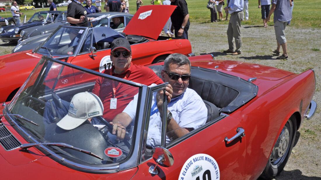 Alfa Romeo 2600 Touring Spider bei der Silvretta Classic 2010 - Claus Witzeck und Dieter Klaiber