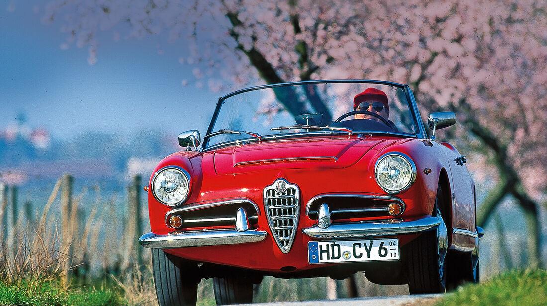 Alfa Romeo Giulia Spider, Frontansicht