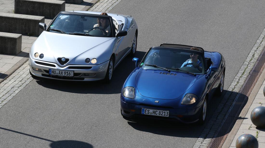 Alfa Romeo Spider 2.0 TS, Fiat Barchetta, Frontansicht