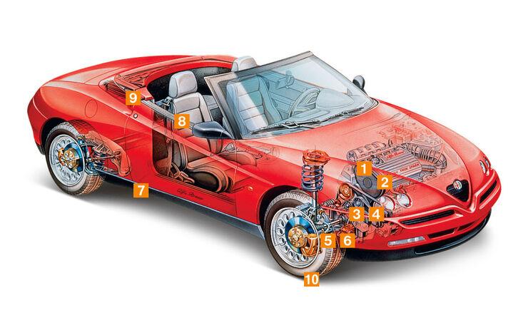 Alfa Romeo Spider (916), Igelbild, Schwachpunkte