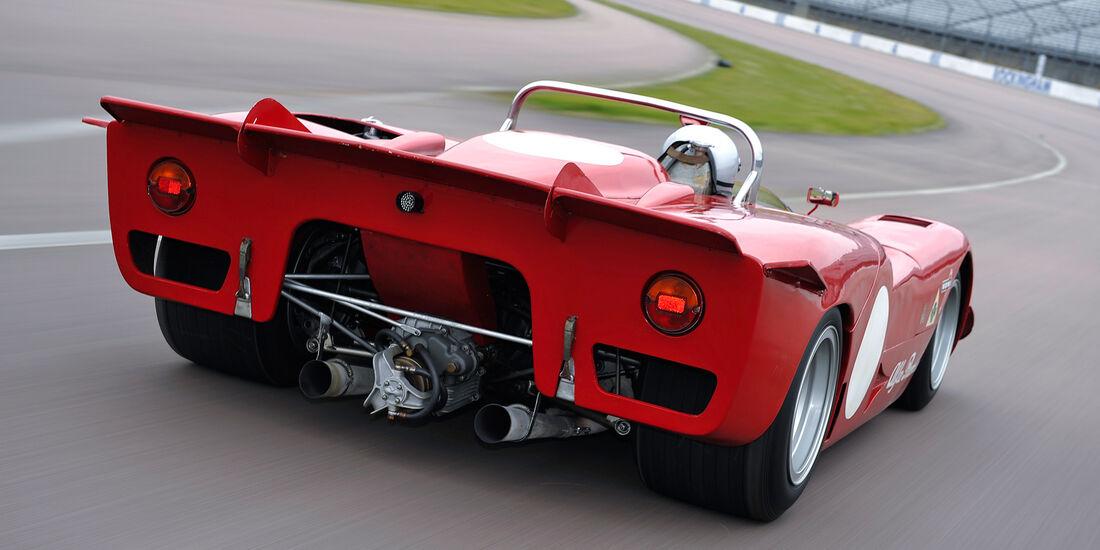 Alfa Romeo T33/3, Heck, Auspuff, Endrohre