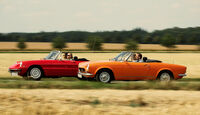 Alfa Spider 1750 Veloce, Fiat 124 Sport Spider, Seitenansicht