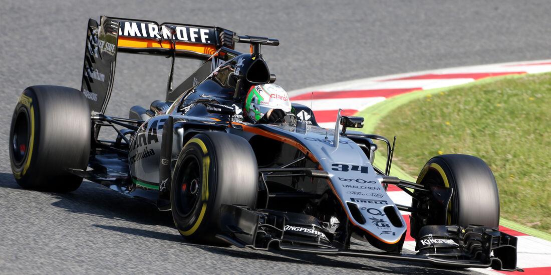 Alfonso Celis - Force India - Barcelona Test 2 - 18. Mai 2016