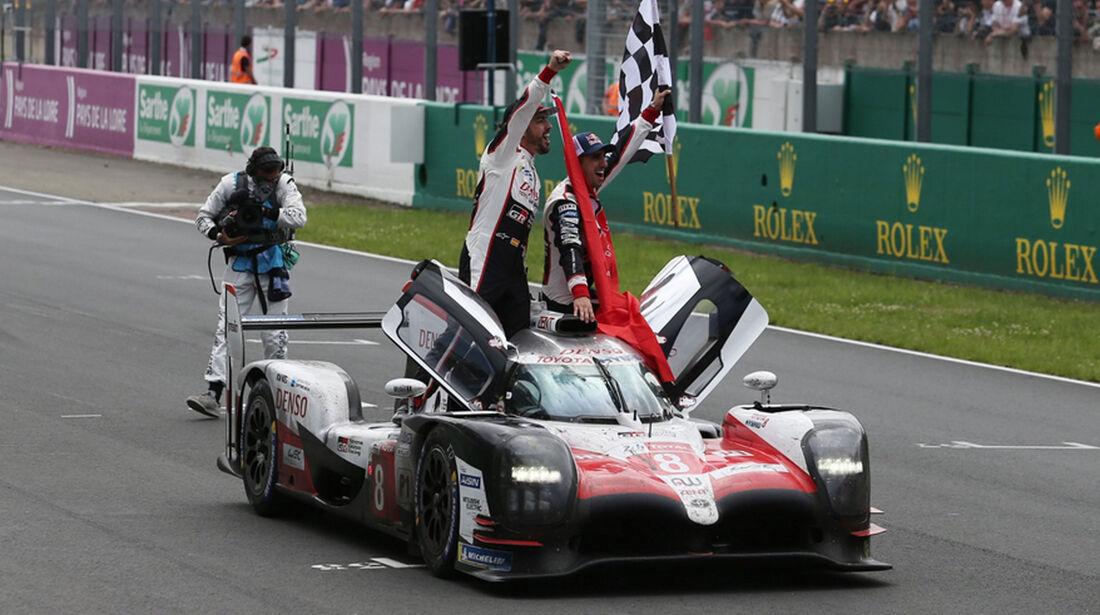 Alonso - Buemi - Nakajima - Toyota - 24h-Rennen Le Mans 2018