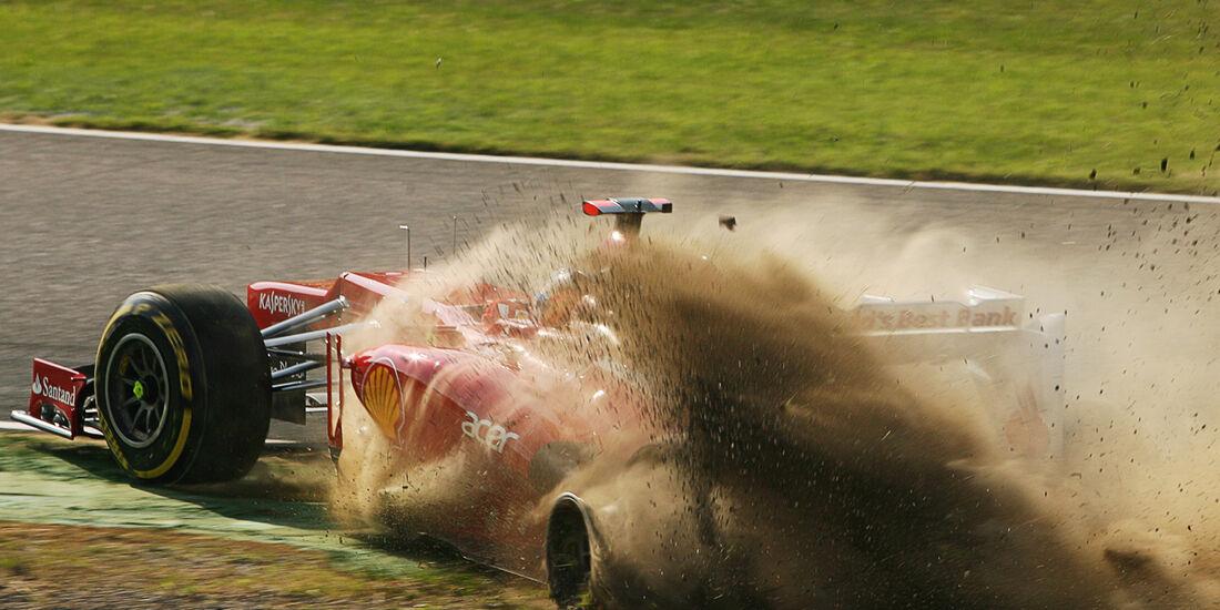 Alonso-Kollision GP Japan 2012