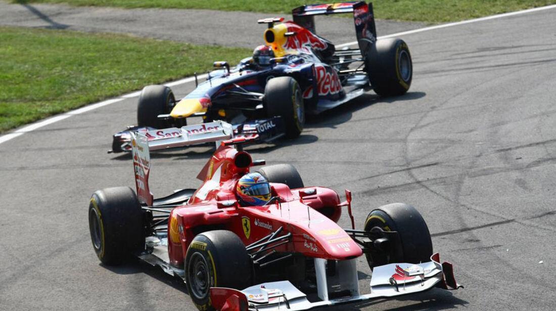 Alonso & Vettel GP Italien Monza 2011