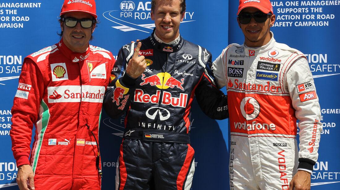 Alonso, Vettel & Hamilton - Formel 1 - GP Kanada - 10. Juni 2012