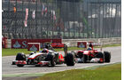 Alonso vs. Button GP Italien Monza 2011