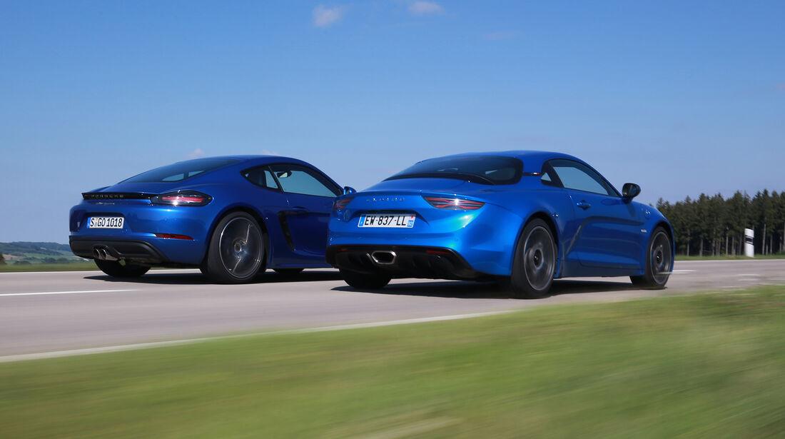 Alpine A110 Première Edition, Porsche 718 Cayman PDK, Exterieur