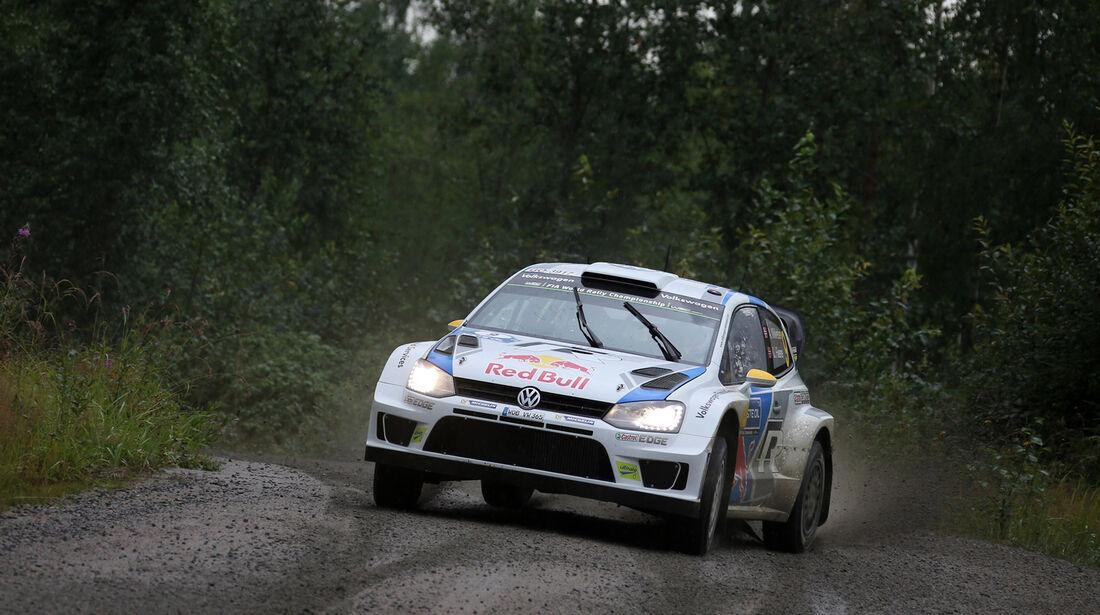 Andreas Mikkelsen - Rallye Finnland 2014 - Tag 2 - VW Polo R WRC
