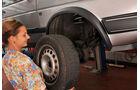 Antriebswellen-Manschetten, Rad abnehmen