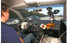 Assistenten-Test, Lenkrad, Testaufbau, Cockpit