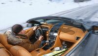 Aston Martin V12 Vantage Roadster, Cockpit
